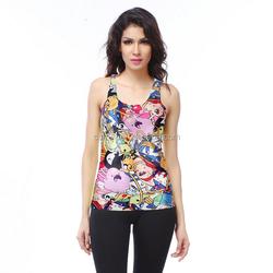 90% polyester 10% spandex custom fitness women yoga clothing dri fit tank tops