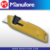 Auto-retractable Safety Utility Thin Blade Knife , Zinc Alloy Body/Handle