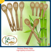 ecofriendly bamboo serving frying slotted spoon