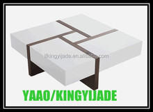 Modern two-tone storage coffee table