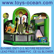 inflatable cartoon 5 in 1 combo with all kinds of theme /inflatable mini combo jumper/bounce castle with slide