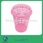 plástico pp colorido redonda cesta de lavanderia