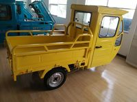 small three wheel petrol cargo tricycle with cabin