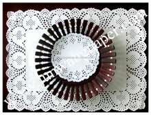 """Paper doily 3.5""""----16"""" Round 53g white"""