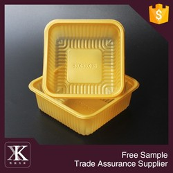 2016 Best And New Plastic Food Grade Tray PS Mooncake Plastic Tray
