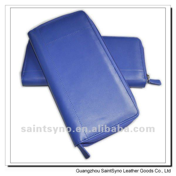 12059 Royal Blue color leather travel bag