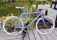wholesale 700C steel made purple bull bar fixie gear bike/bicycle