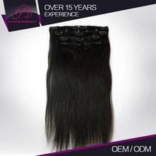 Factory Price Heathy Straight Clip In Hair Black Russian Virgin Hair