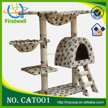 2014 popular cat tree manufacturer 2 crazy cat toy
