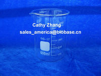 600ml Glass Beaker--material BORO 3.3--glass beaker, low form, with spout