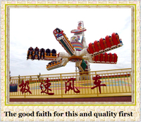 Direct manufacturer with 10 years experience in top spin sky amusement rides speeding windmill