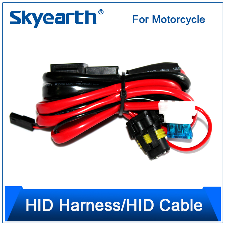 Wiring Harness Kit For Motorcycles : W motorcycle led lighting headlights wiring harness