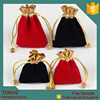New Velvet Gold Color Top Gift Bag Jewelry Pouch