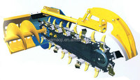 Tractor draining machine rotating trencher for sale