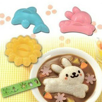 YL022 Hot Sale Cartoon rice ball Dolphin four piece suit rice food mold
