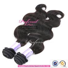 5A Grade body wave human extensions unprocessed virgin brazillian hair