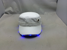 Blank white army hat blue lighted cotton military cap unique night baseball cap