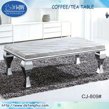 Home furnishing modern designed stainless steel marble coffee/tea table CJ-809