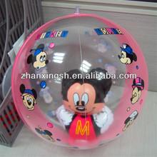 cute transparent inflatable beach ball animal ball