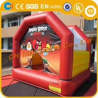 Red Bird Inflatable bouncer, cartoon inflatable bouncy combo, indoor inflatable bouncy castle for kids