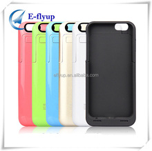 Detachable battery phone case 3500mah battery built-in charger and case cover for iPhone 6