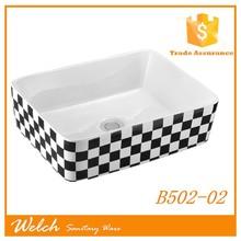 B502-02 Black square art basin fashion style for bathroom