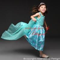 Christmas Elsa Dress Cosplay Costume Kids Princess Birthday Anna Dresses For Girl Of 3-8 Year Fashion Children Wear GD50624-1