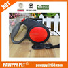 Pet retractable leash with light ,dog accessories in china
