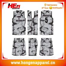Fashion Camouflage colors basketball sets wholesale