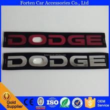 Car ABS Chrome Red Emblem For Dodge 3D Letter Sticker Badge Auto Logo