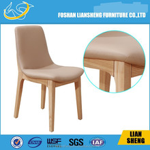 white wooden stackable louis chair with acrylic backrest DC011