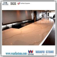 White marble kitchen top & laminate countertop bar top