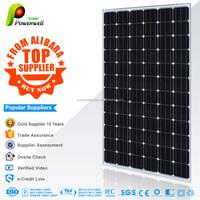 Powerwell Solar Wholesale sunpower 300w Mono solar panel in china
