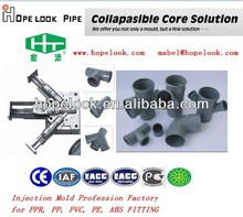 collapsible Core PVC pipe fitting mould