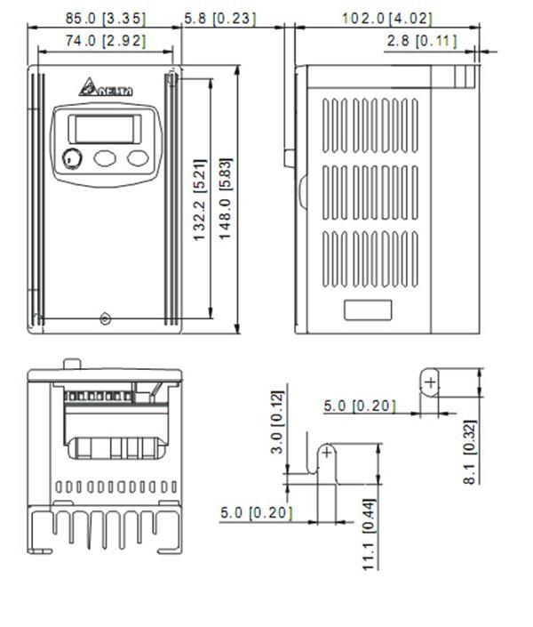 VFD004S21A DELTA VFD-S VFD Inverter Frequency converter