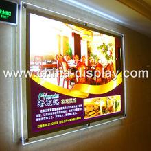 2015 Acrylic transparent display led crystal light frame