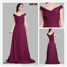 9578 Chiffon Bridesmaid Fat Women Dresses