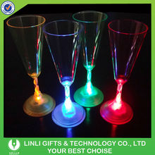 2015 Wholesale Plastic Promotion Colorful LED Champagne Glass,LED Glass,LIght Up Glass