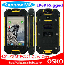 4.5 Inch Android 4.2 MTK6589 Quad Core IP68 rugged android phone with NFC 3G walkie talkie Snopow M8