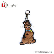 cute dog 2D embossed rubber kids toy keychain