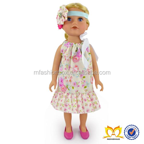 Unidos 2016 algodón venta al por mayor ropa de la muñeca de 18 pulgadas juegos para niñas vestido nuevas muñecas Accesorios