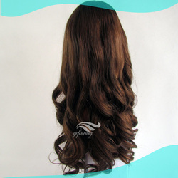 Best Selling European Remy Hair Extra Long Curly Wig WIth Lace Front