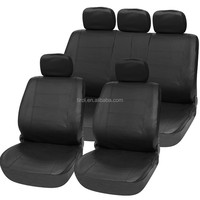TIROL Universal PU Car Seat Cover Set New Black Imitation leather 11 Pieces Front Rear Seat Covers For Crossovers SUV Se