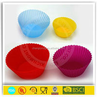 2015 Round shape Silicone Muffin Cases Cake Cupcake Liner Baking Mold