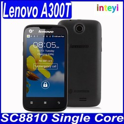 "Wholesale Lenovo A300T Smart Phone 4.0"" touch screen single-core cheapest Lenovo mobile phone China Big Brand"