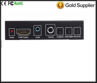 CVBS AV + HD TO HD Decode 720/1080P Converter + Digatal Audio HDV