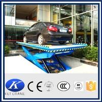 Stationary hydraulic car lift, hydraulic lift for car