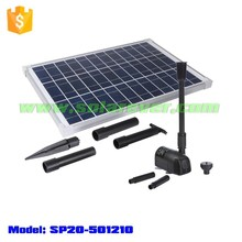 Wiring work free 2.1m head 1360LPH flow rate brushless solar submersible pump (SP20-501210)