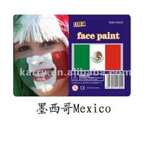TARGET Audited Supplier,Mexico national flag non-toxic face paint
