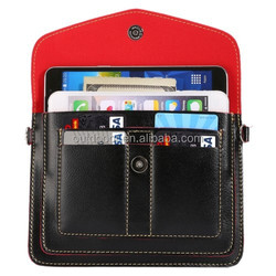 Multi-function Leather Shoulder Bag with Card Slots for iPhone 6 Plus